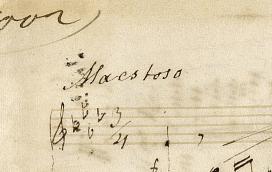 Maestoso in piano bladmuziek