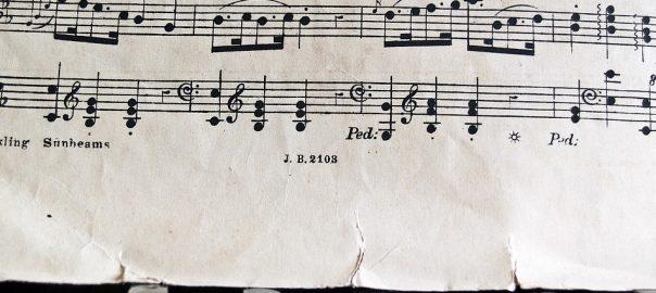 Muziektermen in bladmuziek voor piano